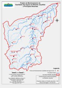Pontos Projeto de Monitoramento da Qualidade das Aguas do Ribeirao Jequitiba